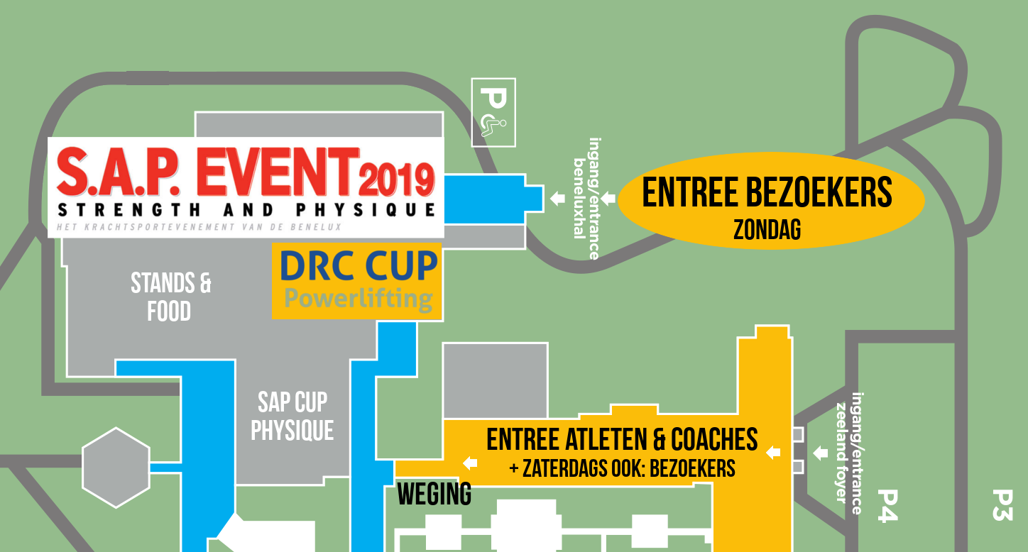 DRC Cup Powerlifting plattegrond